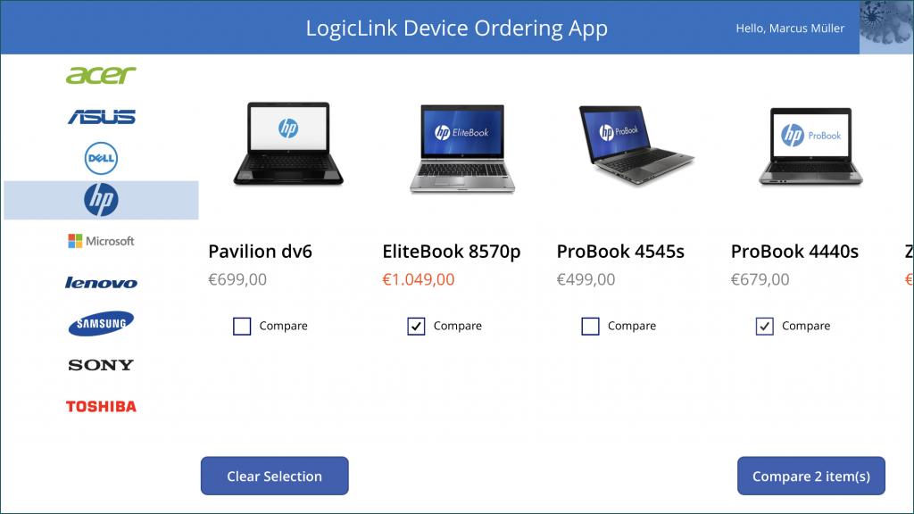 LogicLink Device Ordering Power App